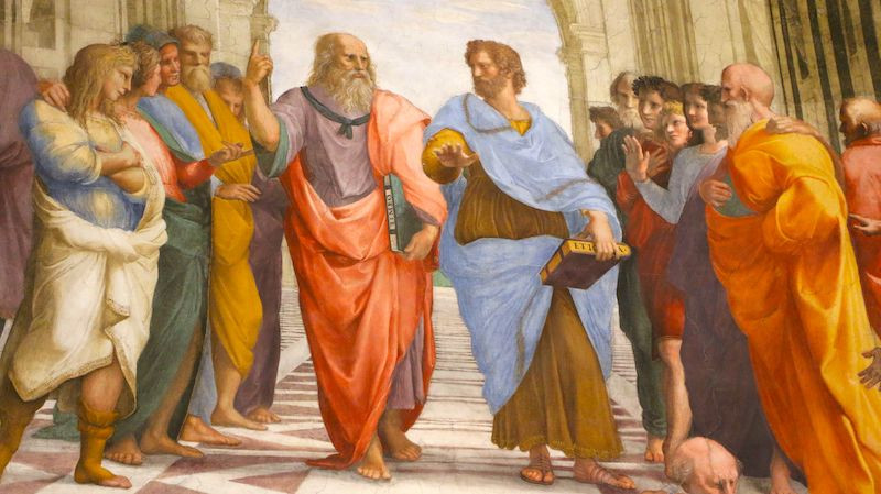 detail from Raphael's School of Athens at the Vatican, the subject of a podcast