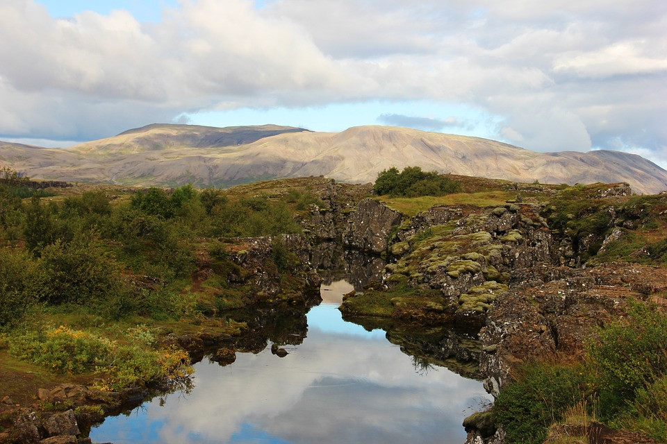 Thingvellir Park: the split between North American & Eurasian tectonic plates