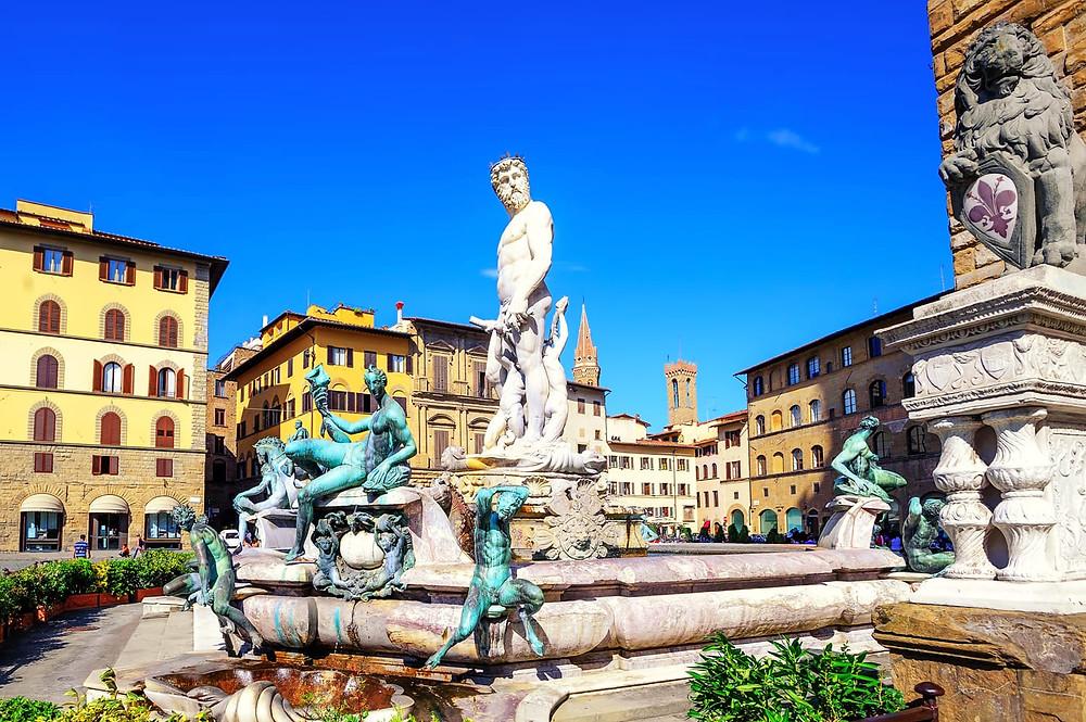 Neptune Fountain in Florence's Piazza della Signoria