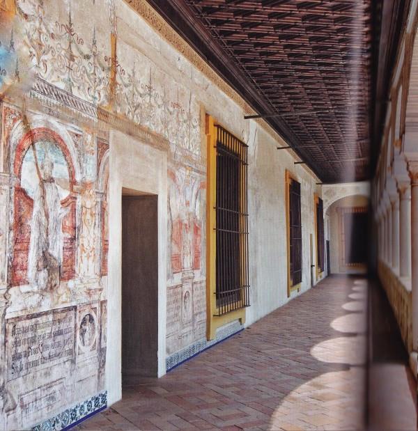 frescos on the upper floor, the Winter Palace, of Casa de Pilatos