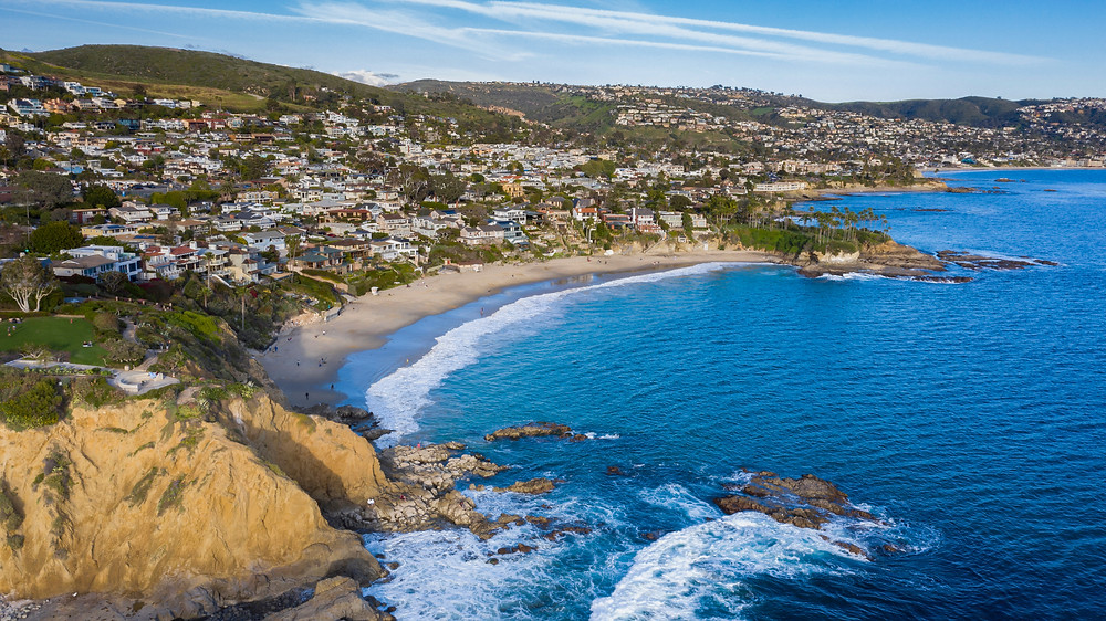 Laguna beach, halfway between Los Angeles and San Diego
