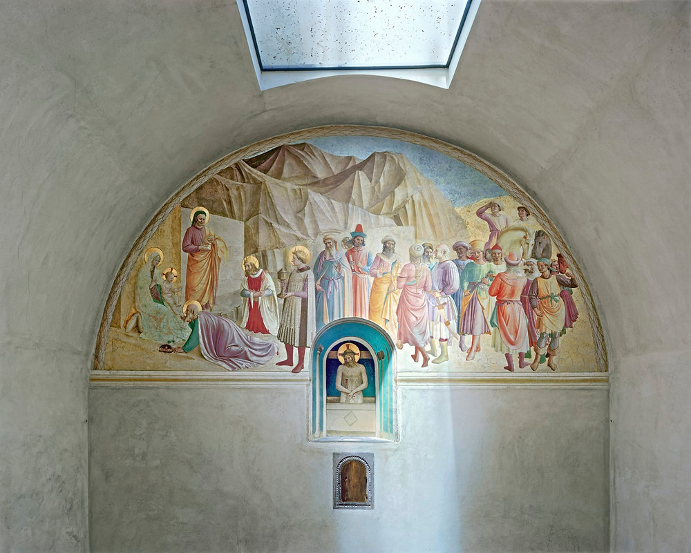 Fra Angelico's and Gozzoli's Adoration of the Magi -- in Cosimo's cell
