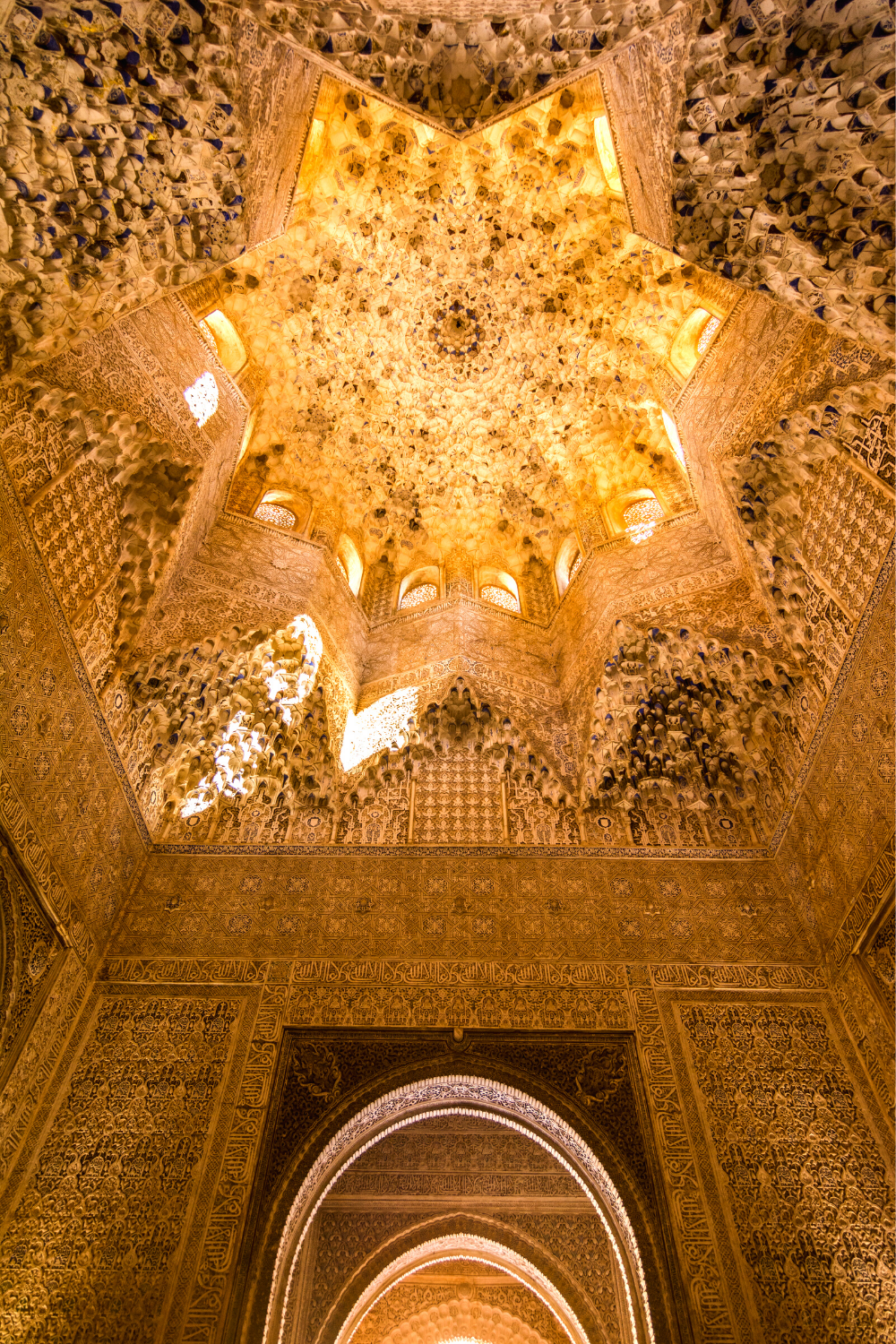 domed ceiling of the Grand Hall of Ambassadors in the Nasrid Palace