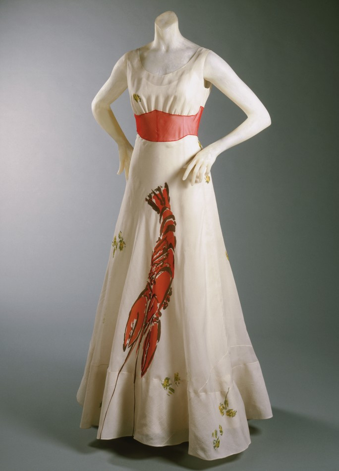'THE LOBSTER DRESS' DESIGNED BY ELSA SCHIAPARELLI IN COLLABORATION WITH SAVADOR DALÍ, 1937. WWW.BRIDGEMANIMAGES.COM