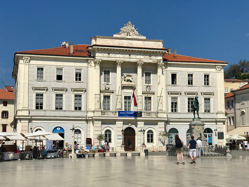 Piran's graceful Roman style City Hall