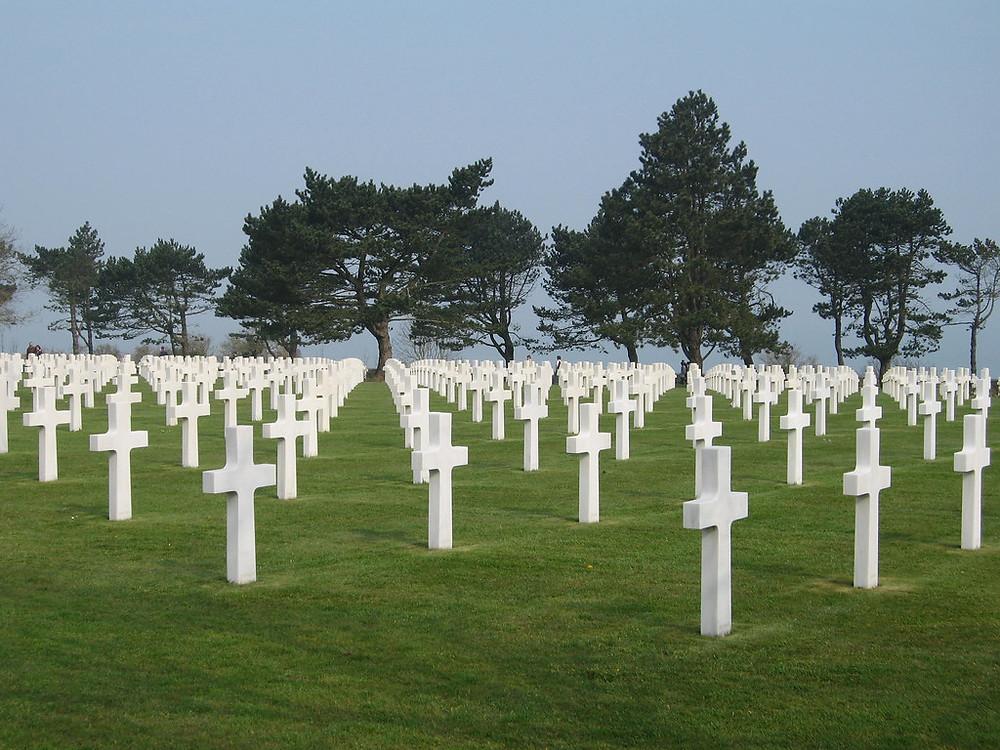 WWII cemetery near Omaha Beach