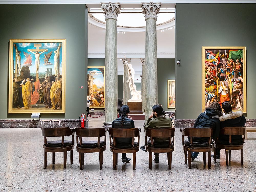 gallery in the Brera Museum