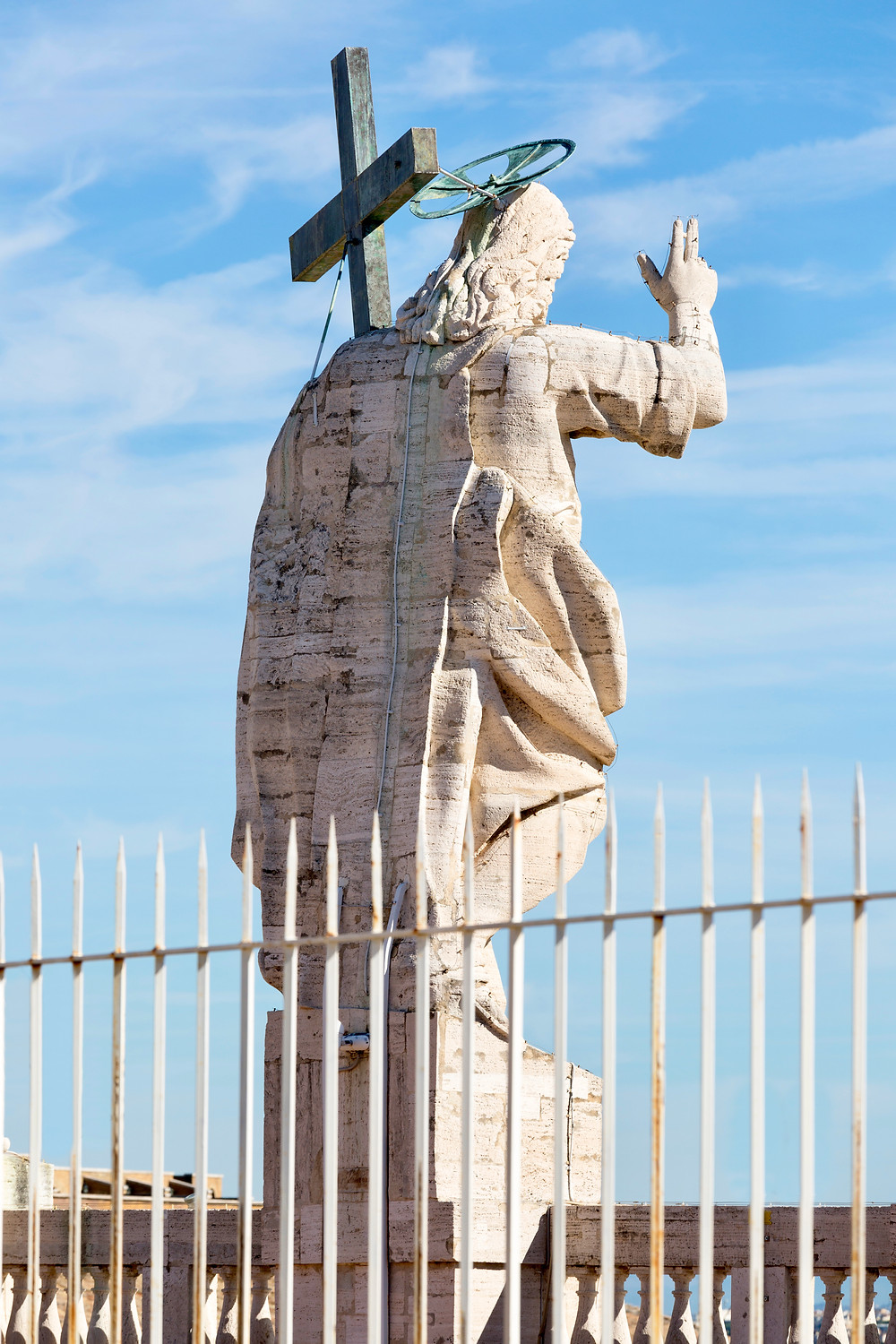 the sculpture of Jesus, which you can see on your dome climb