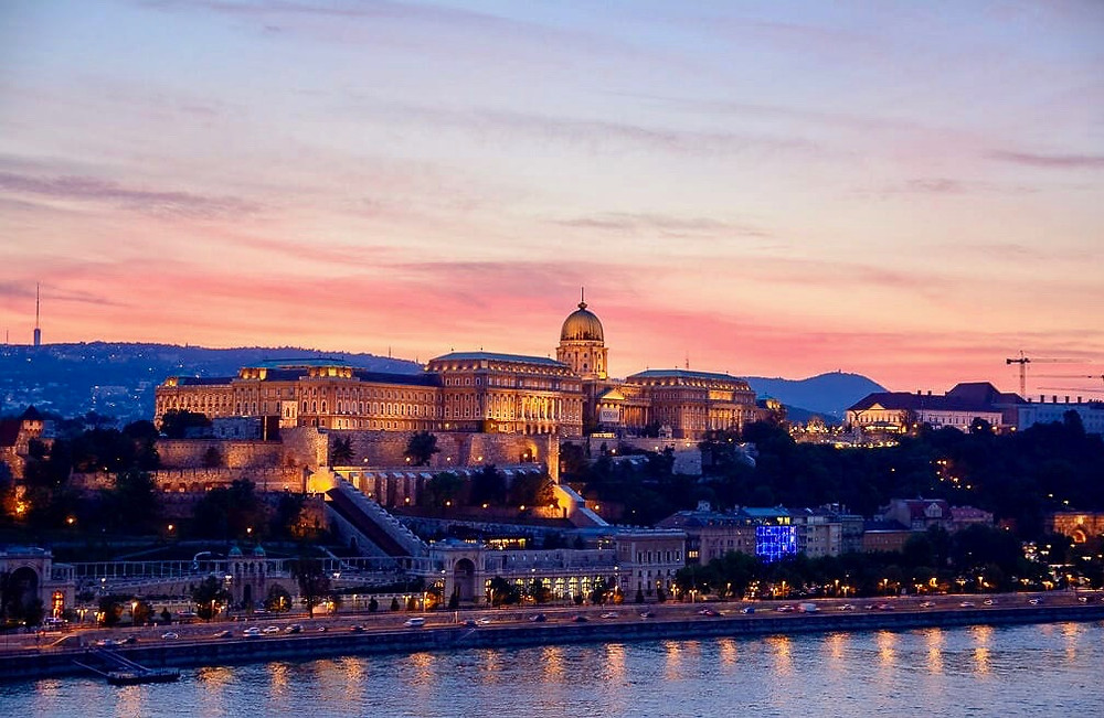 Buda Castle seen from the Pest side of Budapest, an unmissable site in Budapest