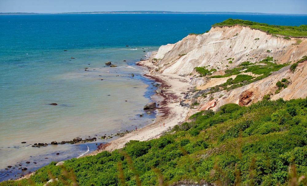Moshup Beach and the Aquinnah Cliffs on Martha's Vineyard