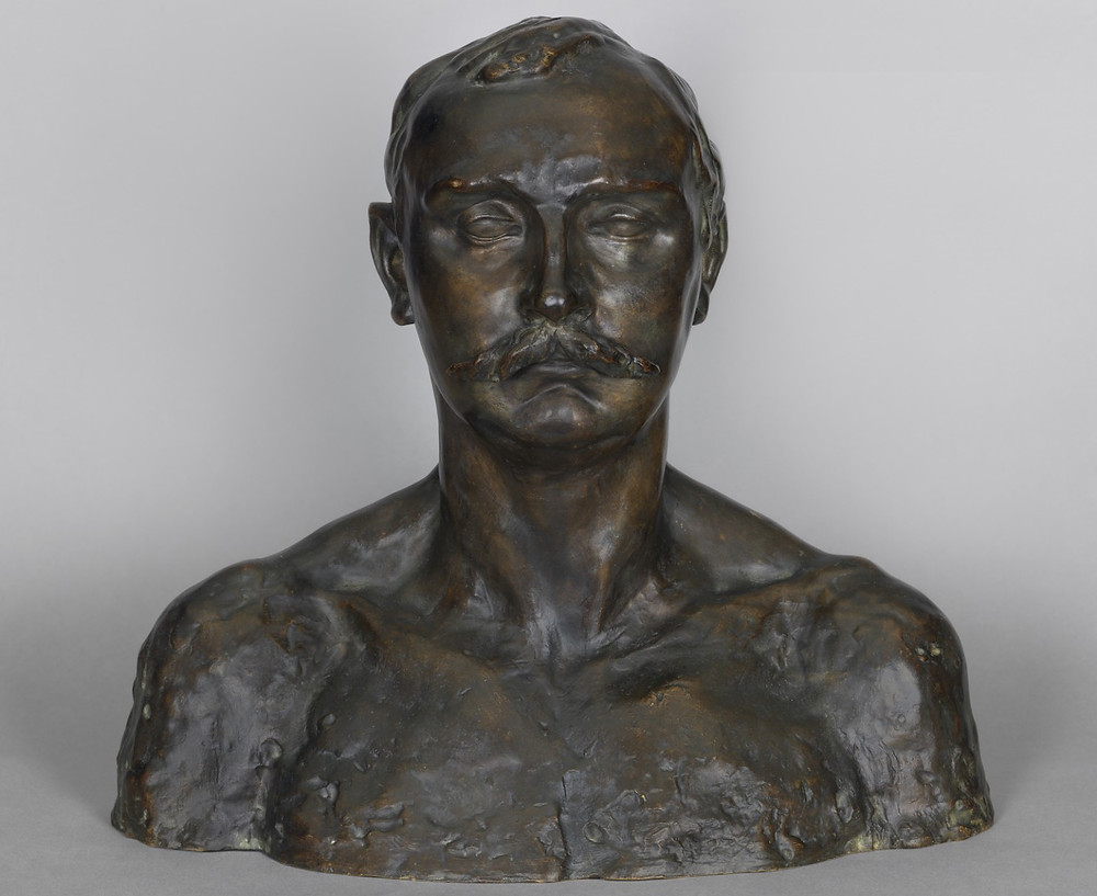 Camille Claudel, Bust of Paul Claudel at 37, 1905-13 -- To me, he looks like an unsmiling, severe religious fanatic.