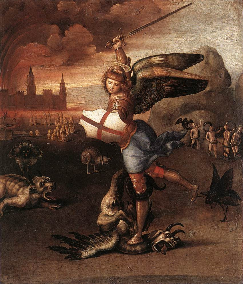 Raphael's St. Michael in the Louvre