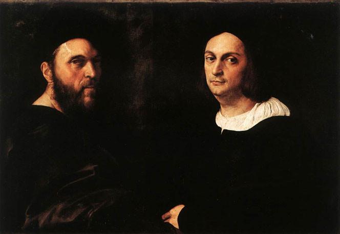 Raphael, Double Portrait, 1516