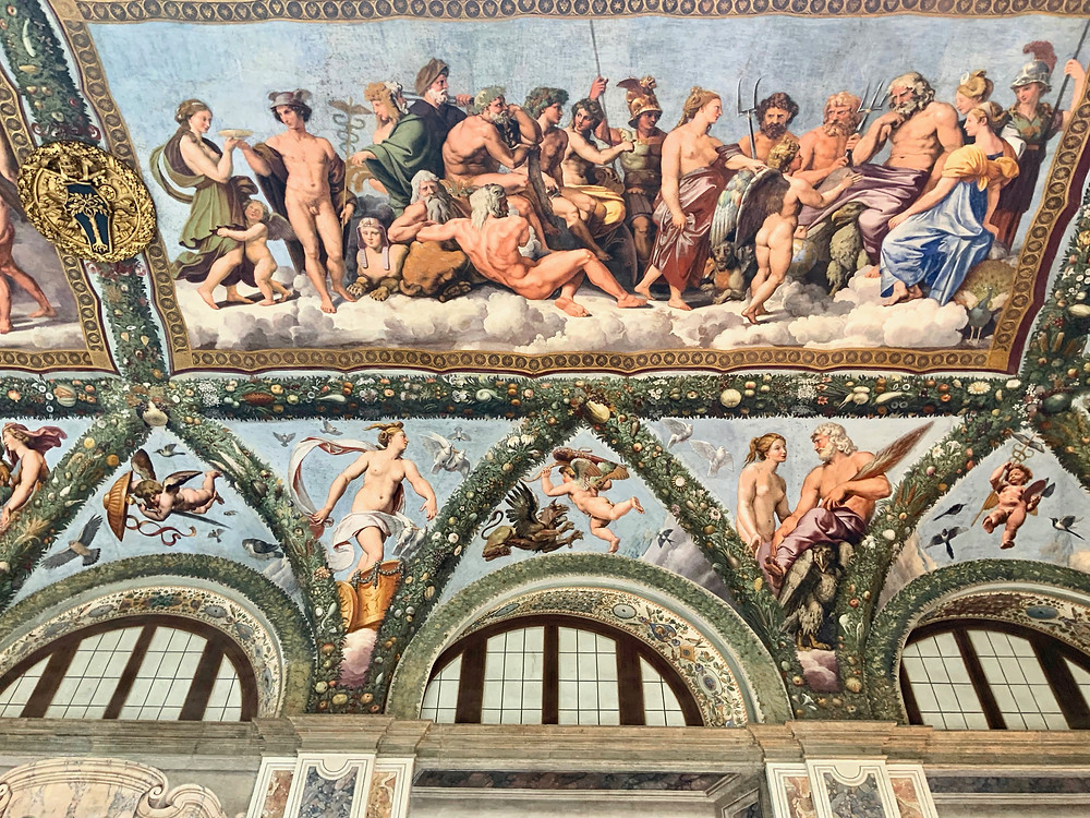 Raphael frescos in the Loggia of Psyche in the Villa Farnesina