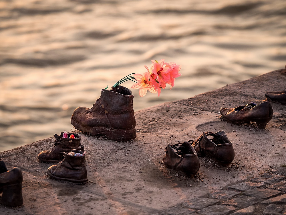 poignant Shoes on the Danube sculpture