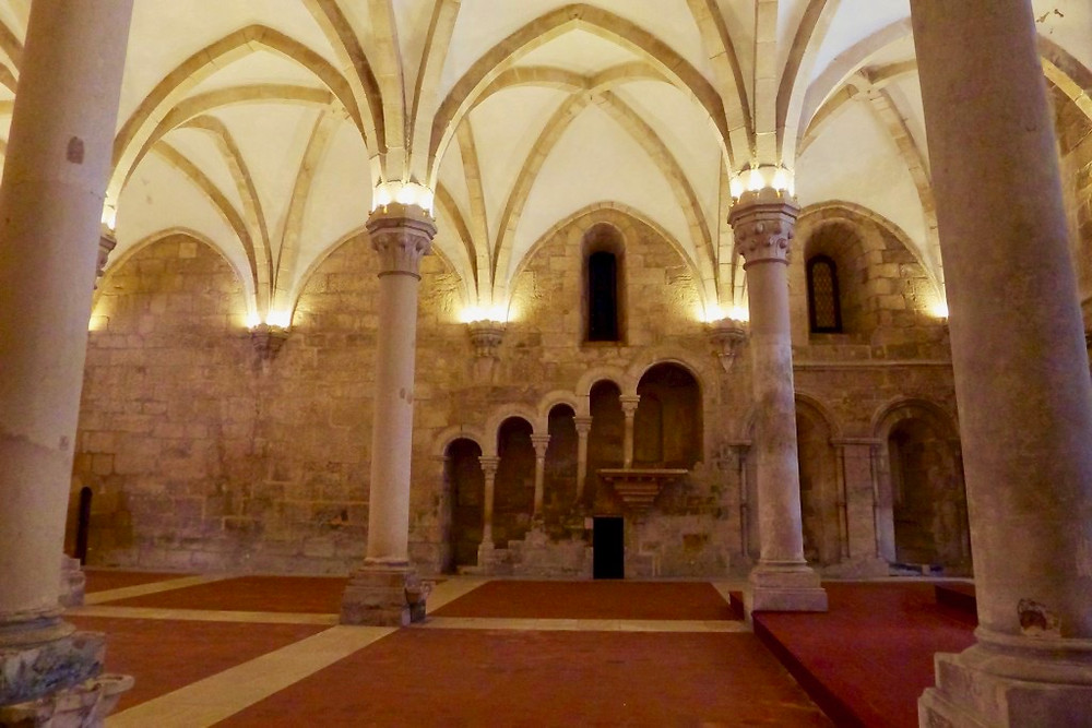the Refectory at Alcobaça Monastery
