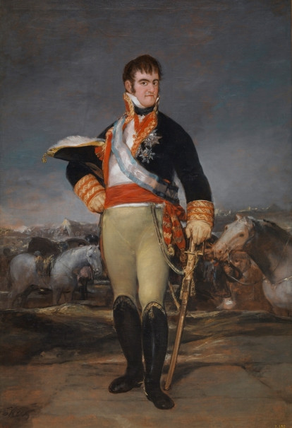 Goya, Ferdinand VII at an Encampment, circa 1815, at the Pardo