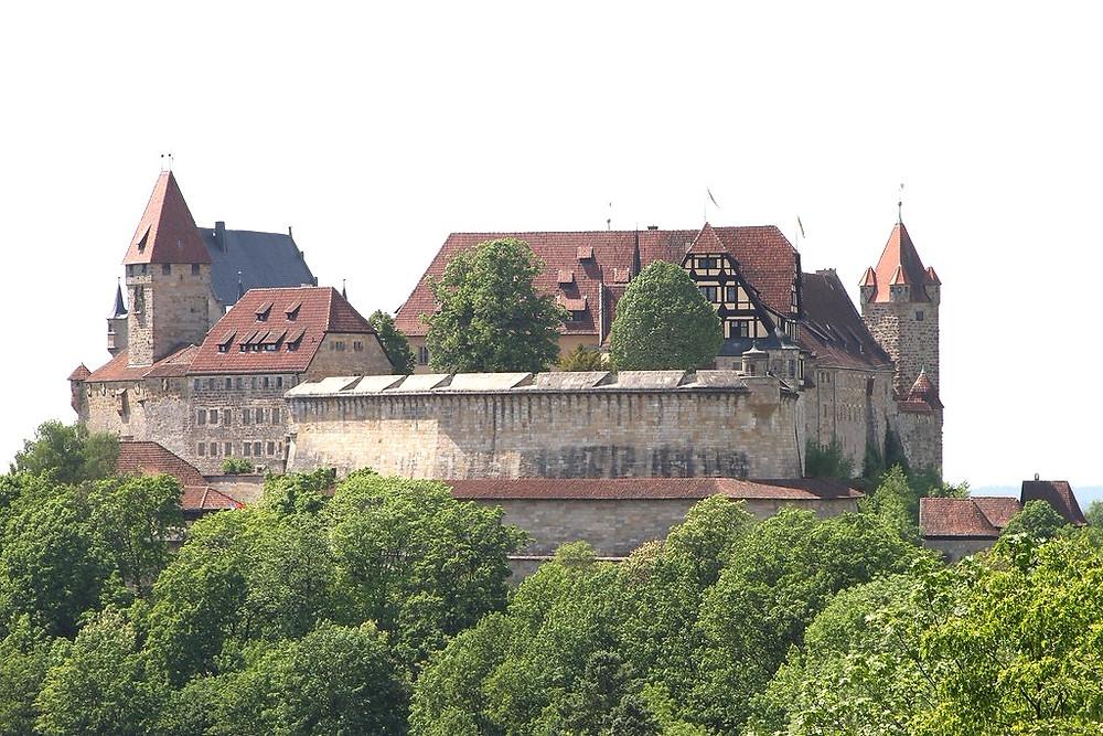 Veste Coburg, a great German castle in Coburg, 30 minutes north of Bamberg