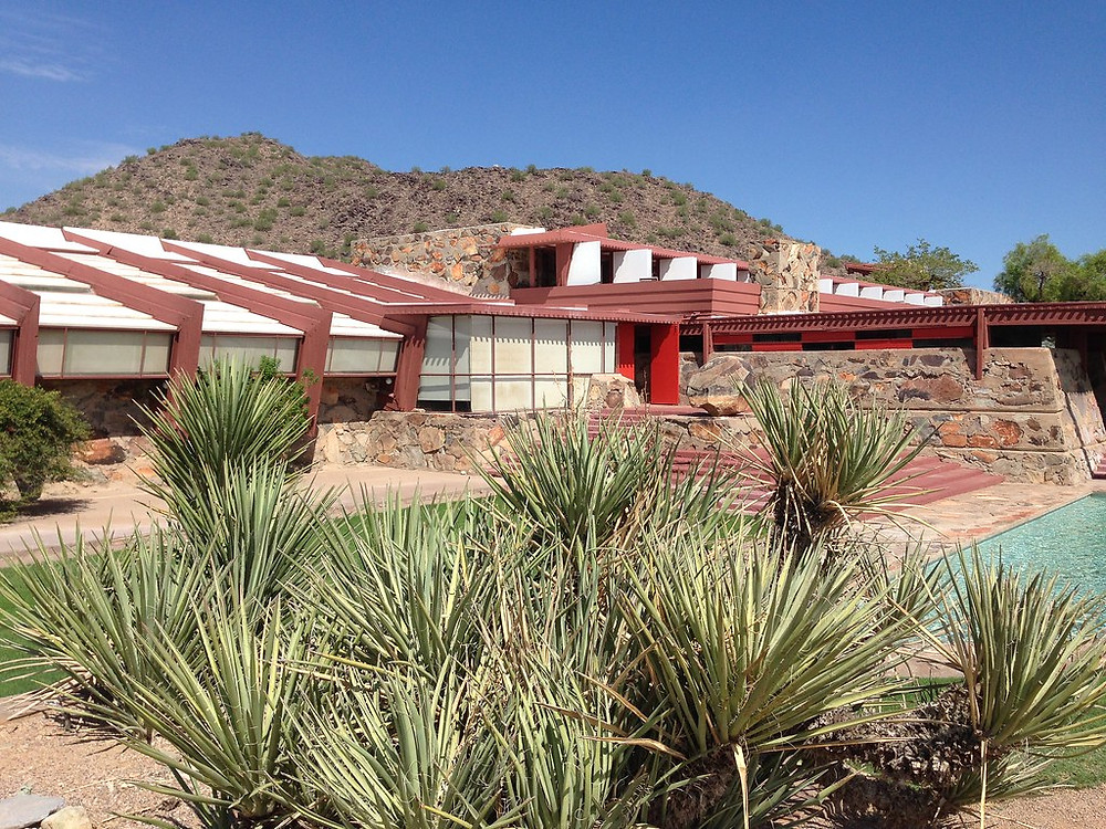 Taliesin West in Arizona, the current home of the Frank Lloyd Wright School of Architecture