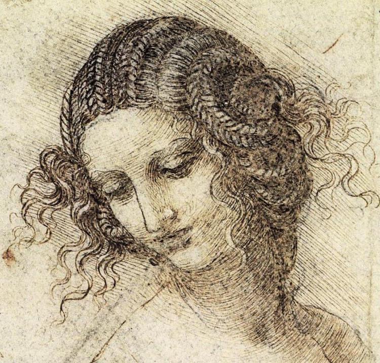 Leonardo da Vinci, Study for the head of Leda, c.1506
