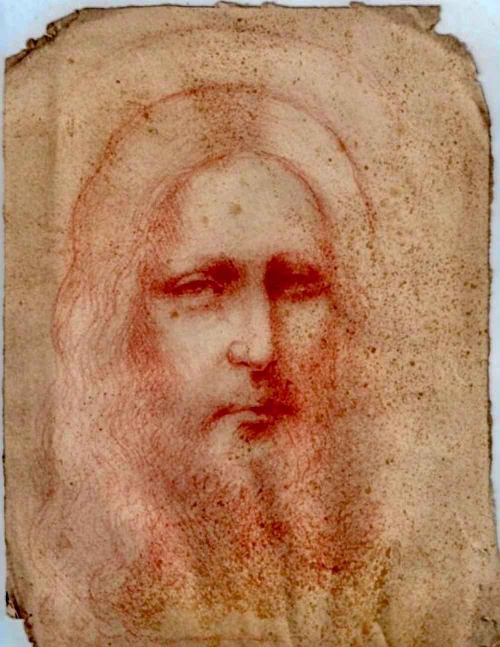 newly found sketch of Jesus Christ attributed to Leonardo