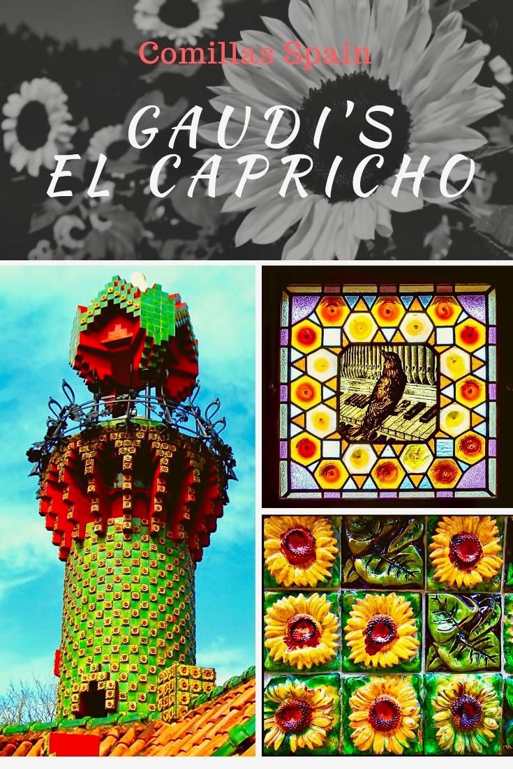 Gaudi's El Capricho in Cantabria Spain