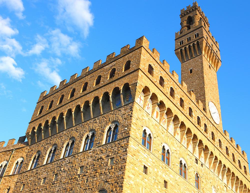 rusticated facade of the Palazzo Vecchio