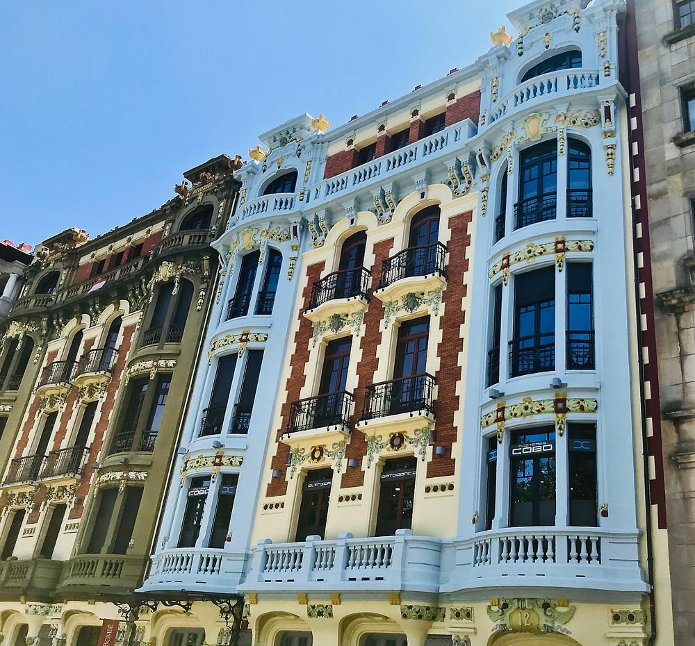 colorful facades in pretty Oviedo