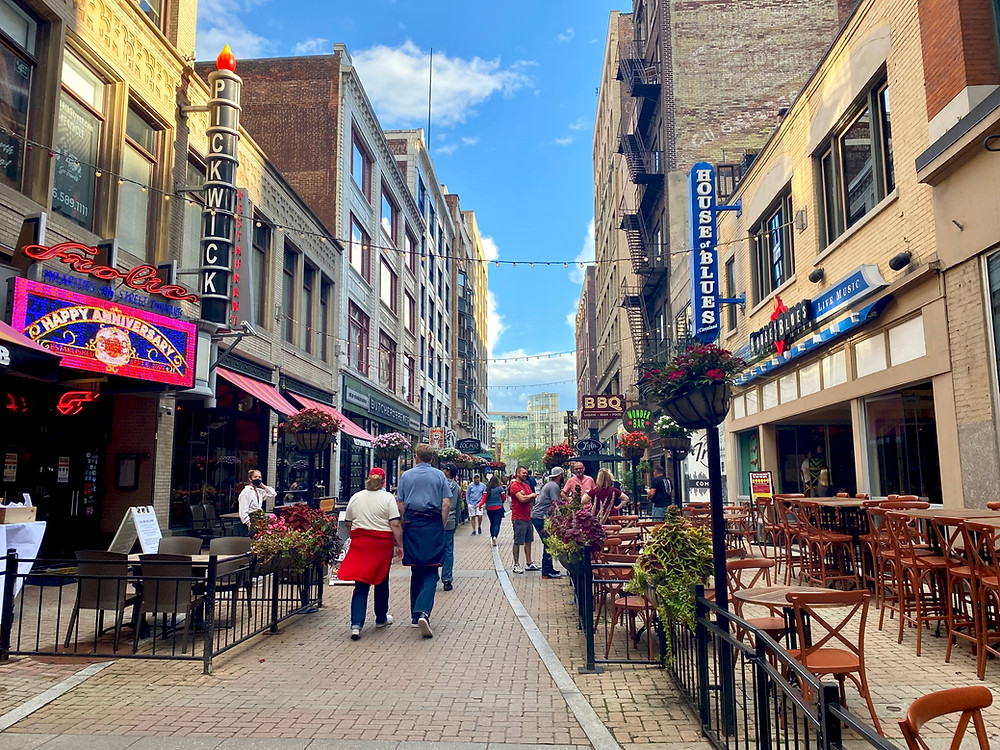 historic 4th Street in Cleveland