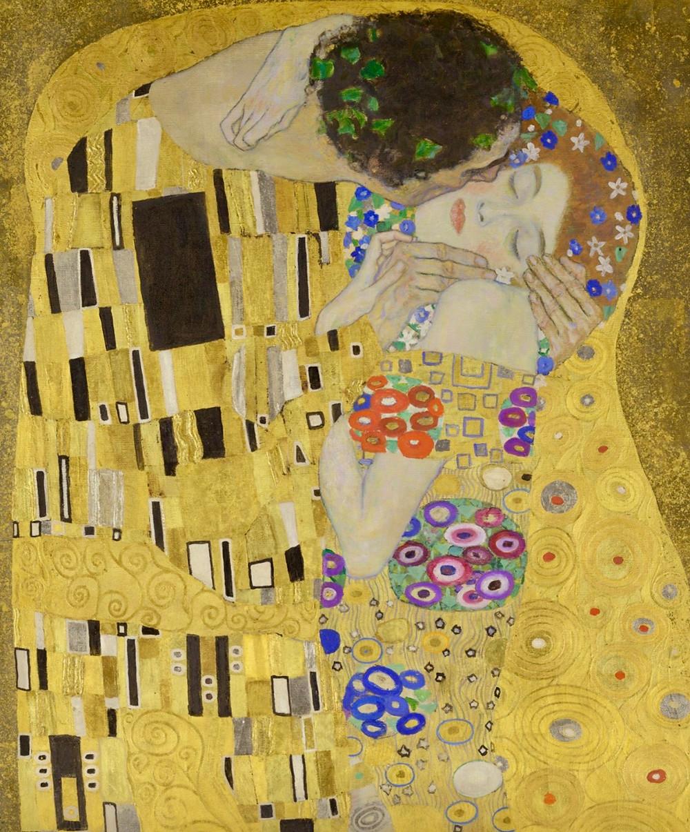 Klimt, The Kiss, 1908