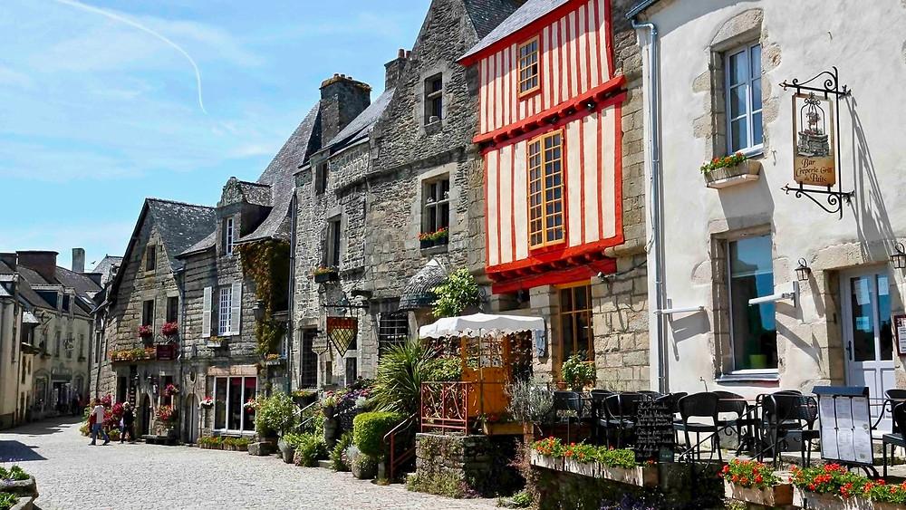 street in Rochefort-en-Terre in Brittany France