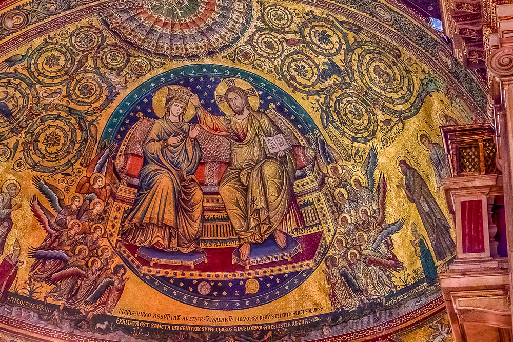 detail of the apse mosaic