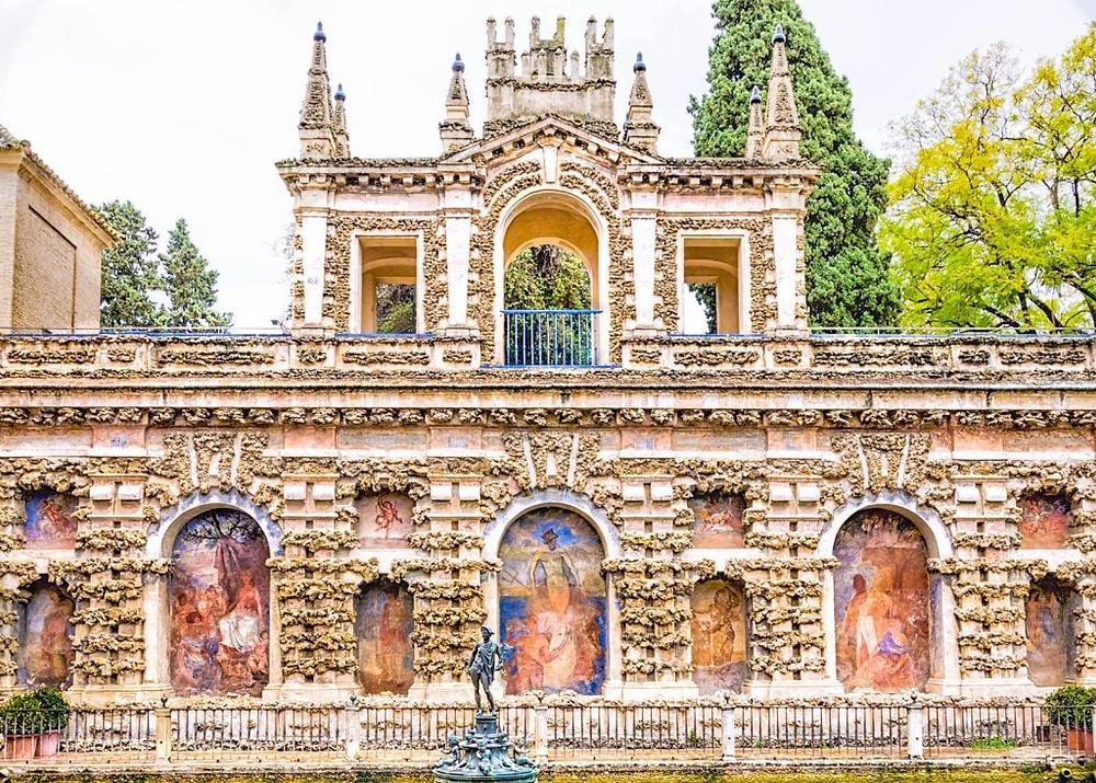grotto in the Royal Alcazar in Seville