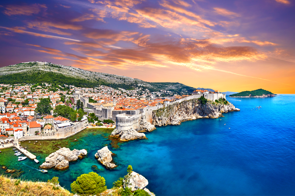 the stunning walled city of Dubrovnik Croatia