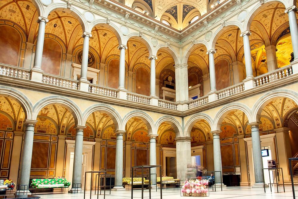 courtyard in Vienna's MAK museum