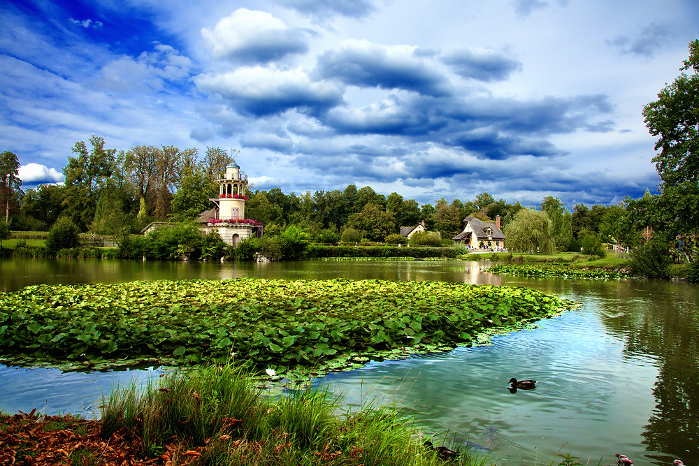 the Hameau, Marie Antoinette's country village at Versailles