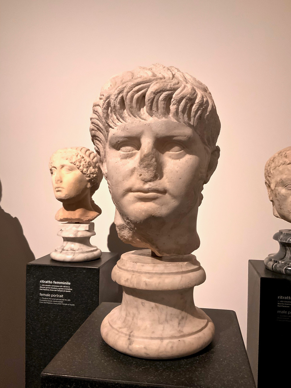 a rare surviving likeness of Emperor Nero in the Palatine Museum