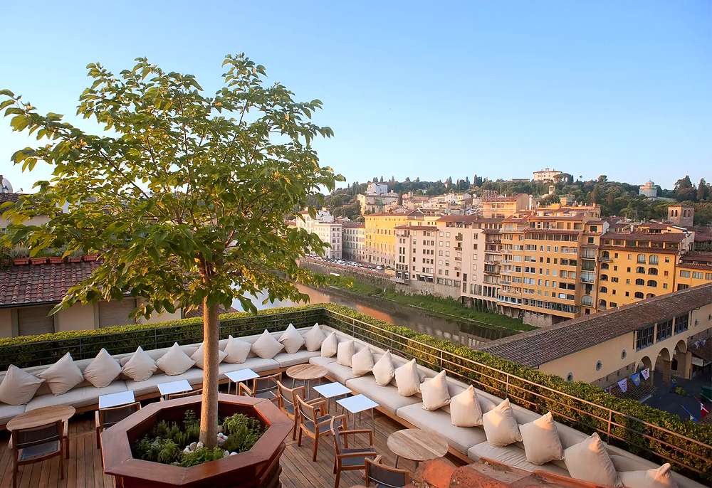 view of Florence from La Terraza at the Hotel Continentale