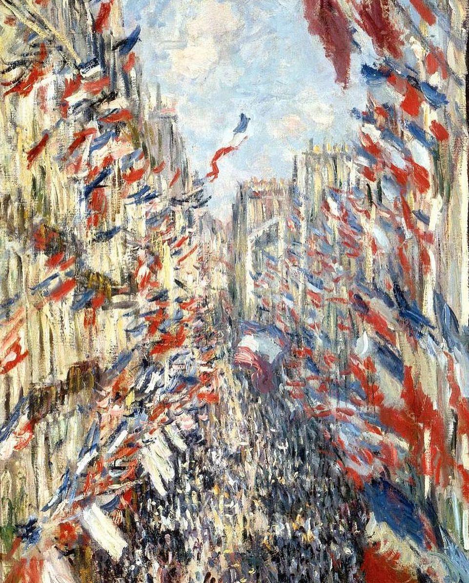 Monet, The Rue Montorgueil in Paris, 1878