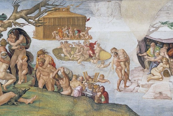 the Great Flood -- this was the first scene Michelangelo painted