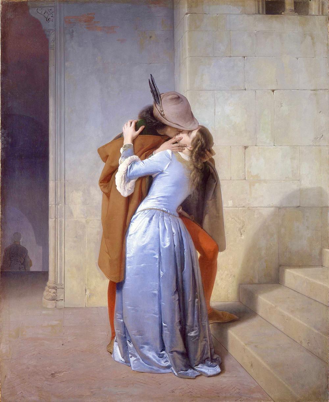 Francesco Hayez, The Kiss, 1859 -- in the Pinacoteca di Brera