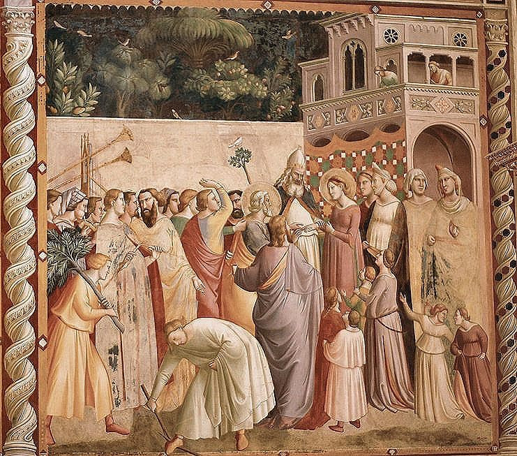 Taddeo Gaddi, Marriage of the Virgin -- in the Baroncelli Chapel