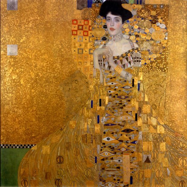 Gustav Klimt, Adele Bloch-Bauer: Woman in Gold, 1907 -- in the Neue Galerie in New York
