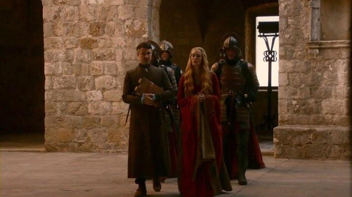 Littlefinger and Cersei spar in Joffrey's in Lovrijenac Fortress