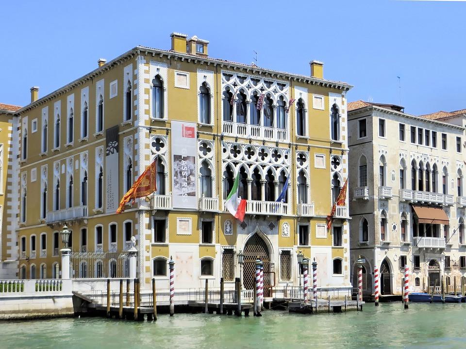Palazzo Cavalli Franchetti along the Grand Canal in Venice