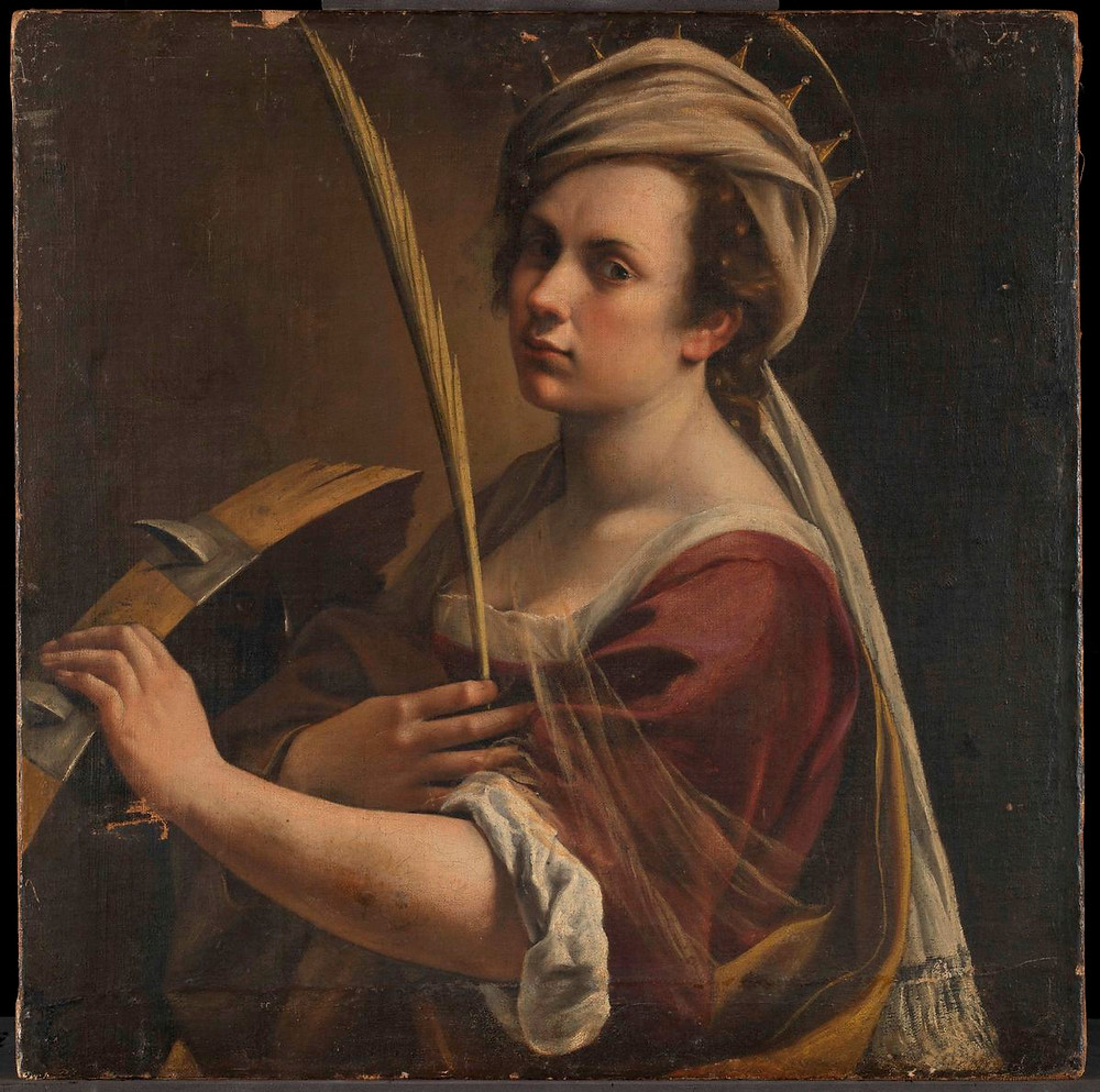 Artemisia Gentileschi, Self Portrait as Saint Catherine of Alexandria, c. 1615–17.