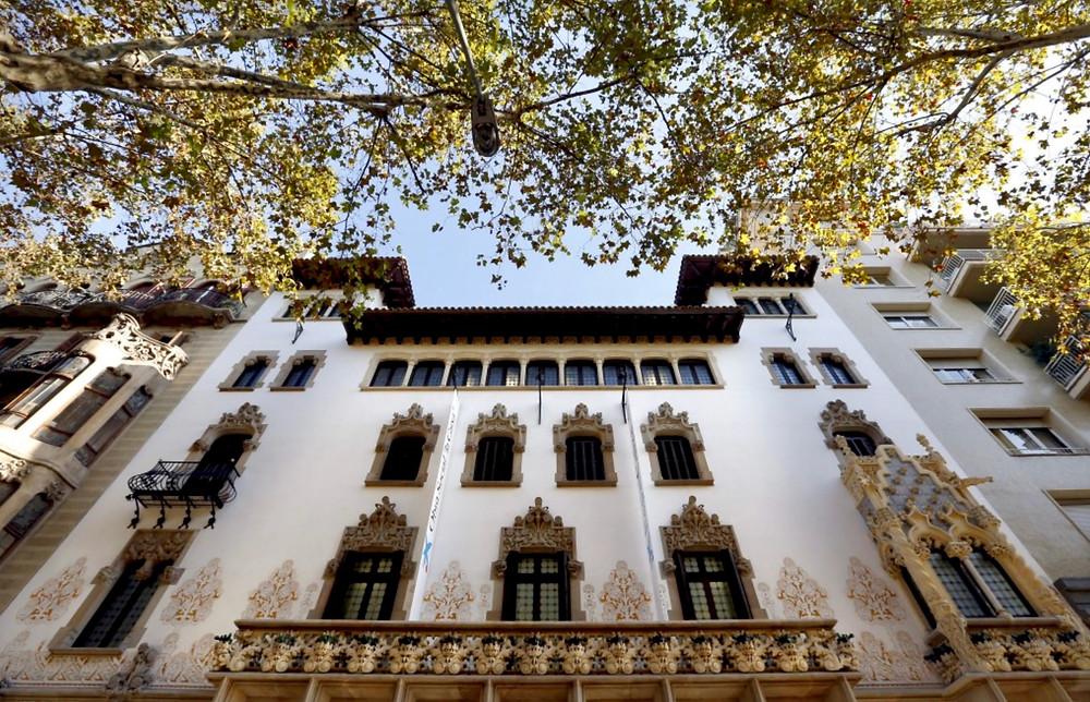 white facade of Casa Macaya