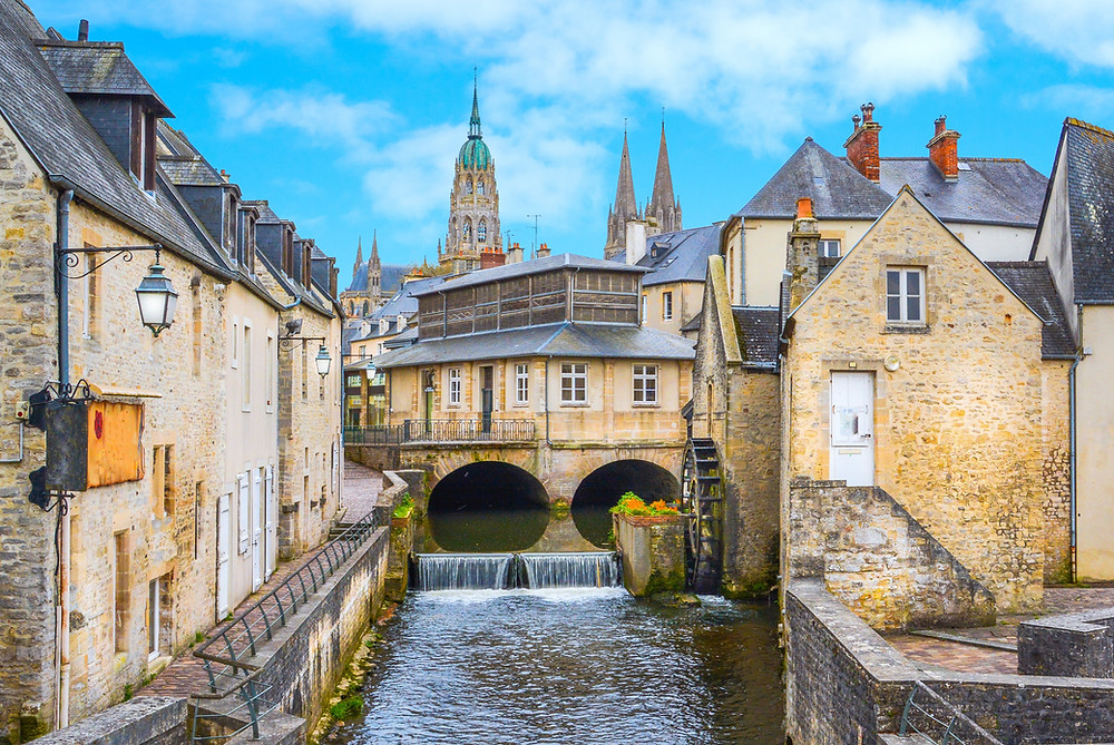 historic center of Bayeux, a pretty town in Normandy