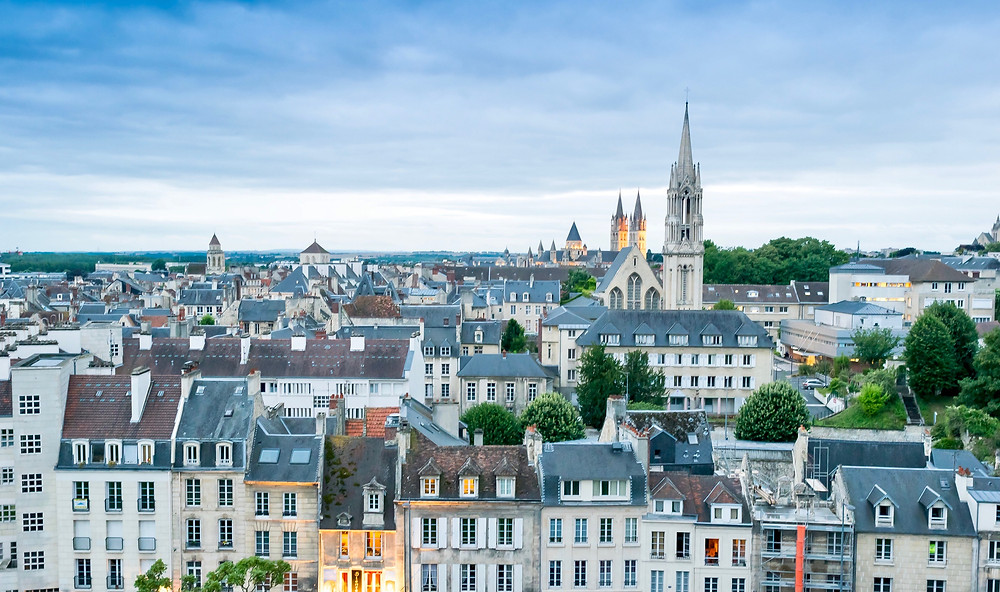 cityscape of Caen in Normandy France