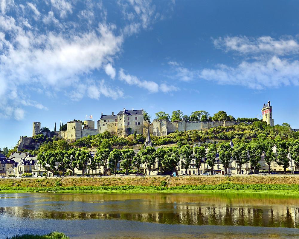 Chateau de Chinon, a rare medieval castle in the Loire